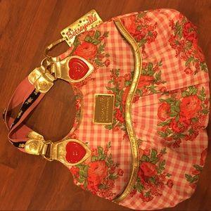 Betsy Johnson strawberry shortcake purse large